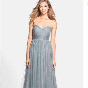 Jenny Yoo Mayan Blue Annabelle Dress